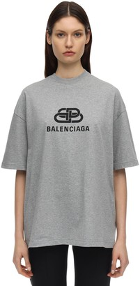 Balenciaga CHAIN LOGO COTTON JERSEY T-SHIRT
