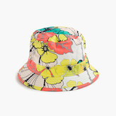 J.Crew Girls' bucket hat in punchy hibiscus