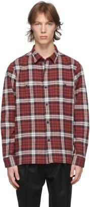 Officine Generale Red Check Barry Shirt