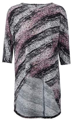 Dorothy Perkins Womens *Izabel London Multi Coloured Abstract Dip Hem Top, Multi Colour