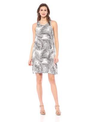 28 Palms Women's Tropical Hawaiian Print Lightweight Sleeveless Shift Dress