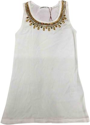 Vivienne Tam White Cotton Top for Women Vintage