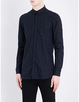 The Kooples Fitted Checked Pure-cotton Shirt