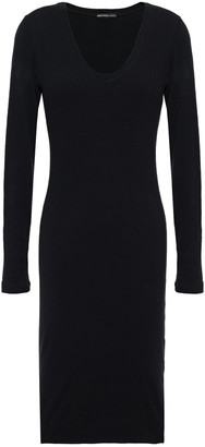 James Perse Brushed Cotton-blend Jersey Dress
