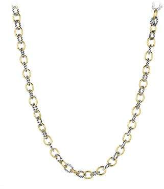 David Yurman Medium Oval Link Chain Necklace With 18K Gold