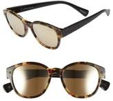 Lanvin Men's 50Mm Retro Sunglasses - Light Havana