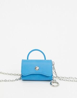 Asos Design DESIGN ultra mini purse bag in cyan blue