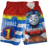 Thomas & Friends Little Boys Blue Cartoon Character Swimwear ShortsT