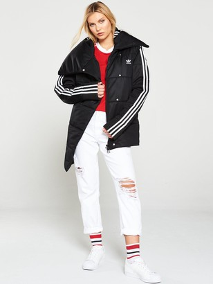 adidas Tracktop Quilted Coat - Black