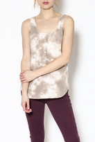 Love Stitch Lovestitch Beige Tie-Dye Top