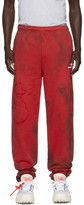 Off-White Off White Red Tie-Dye Lounge Pants