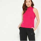 Joe Fresh Women's Mock Neck Tank, Bright Pink (Size S)