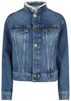 Sandro Bead Trim Denim Jacket