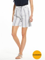 Very Linen Stripe Short