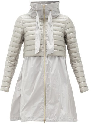 Herno High-neck Quilted Technical-fabric Coat - Silver