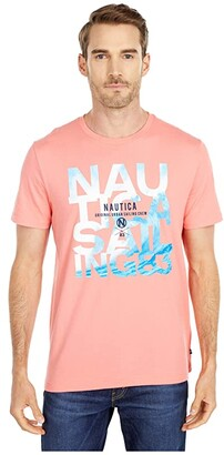 Nautica Graphic Tee (Pale Coral) Men's Clothing