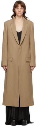 Haider Ackermann Tan Wool Samara Coat