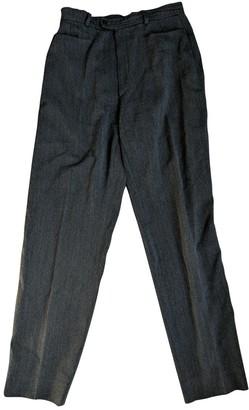 Saint Laurent Grey Wool Trousers for Women Vintage
