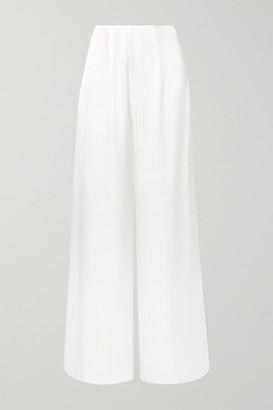Vanessa Cocchiaro - The Coco Satin Wide-leg Pants - Ivory