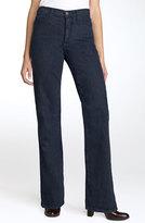 NYDJ 'Marilyn' Stretch Straight Leg Jeans (Blue Black) (Regular & Petite)