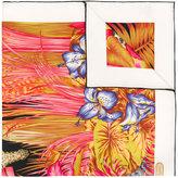 Salvatore Ferragamo floral and leaf print scarf