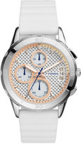 Fossil Women's Chronograph Modern Pursuit White Silicone Strap Watch 39mm ES4024
