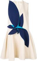 DELPOZO draped appliqué flared dress