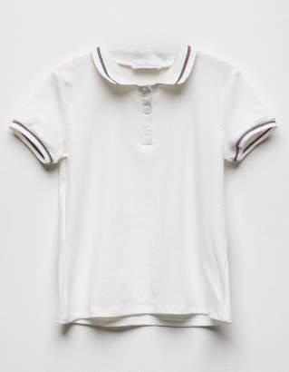 Full Tilt Ribbed Girls Polo Shirt