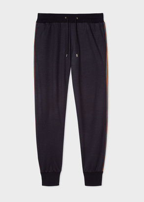 Paul Smith Men's Dark Navy 'Artist Stripe' Wool Sweatpants