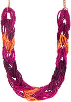 Accessorize Block Seed Bead Necklace