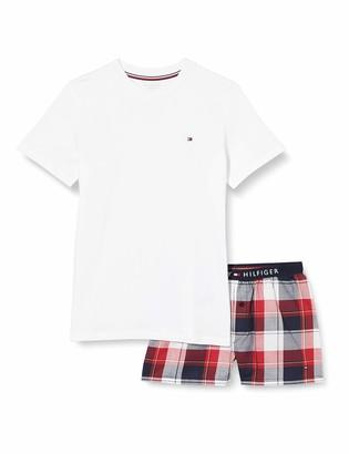 Tommy Hilfiger Boy's SS Short Set Woven Print Pyjama
