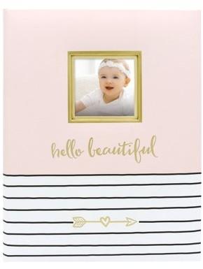 Pearhead Hello Beautiful Keepsake Baby Memory Book, Pink