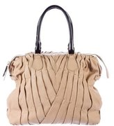 Valentino Pleated Leather Shoulder Bag