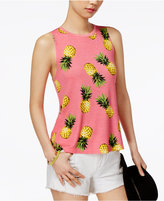 Carbon Copy Pineapple-Print Tank Top
