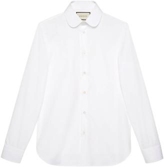 Gucci Round collar cotton poplin shirt