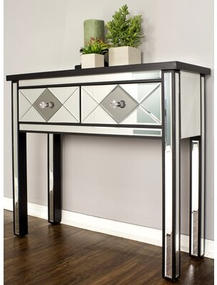 Thumbnail for your product : Rosdorf Park Gibbs Console Table Color: Black