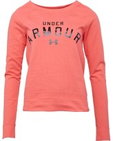 Under Armour Womens Pretty Gritty Blackout Crew Sweat Neo Pulse/Break/White