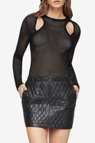 BCBGMAXAZRIA Cut Out Mesh Top