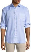 Peter Millar Whirlwind Woven Linen Shirt