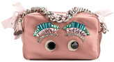Anya Hindmarch Eyes chain clutch bag - women - Polyester - One Size