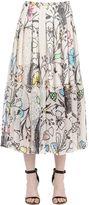 Maurizio Pecoraro Floral Printed Silk Skirt