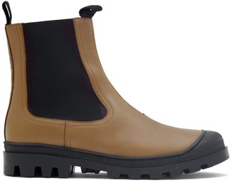 Loewe Toe-cap Leather Chelsea Boots - Green