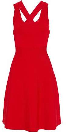 Alexander Wang Fluted Ribbed Stretch-Knit Dress