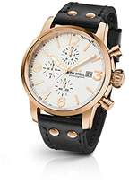 TW Steel 'Maverick' Quartz Stainless Steel and Leather Dress Watch, Color:Black (Model: MS73)