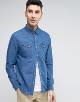 Wrangler Longsleeve Western Denim Shirt