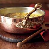 Ruffoni Hand-Hammered Historia Copper Chef's Pan with Wood Spoon