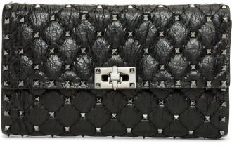 Valentino Rockstud Spike - Nappa Crackle Shoulder Bag