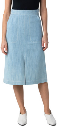 Akris Punto Stretch Denim Midi Skirt