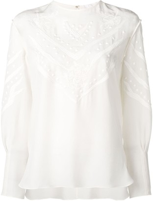 Chloé embroidered detail blouse