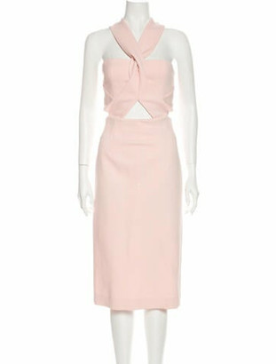 Nicholas Halterneck Midi Length Dress Pink